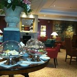elegant bar with breakfast buffet
