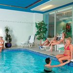 Relax around our indoor swimming pool with sauna