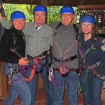  Suiting up for 2.5 hours of zip-lining.