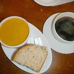  home made soup and coffee