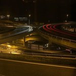  View of Highway at night from room
