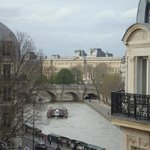 View of the Seine from corner room