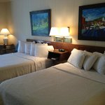  Room with Two Double beds--all rooms feature original artwork by local artists!