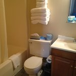 Two Double bed room--bathroom with shower and tub, Crabtree & Evelyn soaps