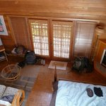 Inside Aloha Moon cottage from loft above bathroom
