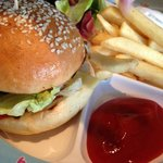  Kids Menu - burger and chips