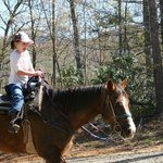  My daughter riding Jubilee
