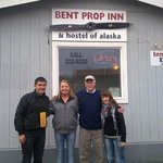 infront of Bent prop inn