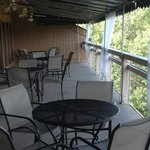 Restaurant balcony overlooking Lake