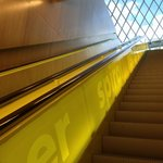 seattle public library escalator