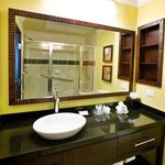King Rooms feature Showers with built-in bench seats.