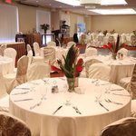  Banquet Room setup for dinner gala.