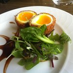  The Star of the show!!! Scotched egg and brown sauce