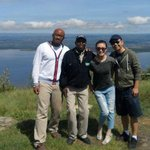 Me, Nicolas (our guide) and my two friends at Lake Nakuru