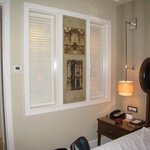 Shutters into the bathroom from the suite.