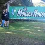 At the entrance to the Mouses House with my love.