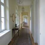 The corridor leading to the rooms