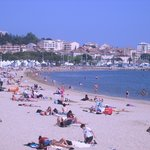 A sandy beach in St-Maxime