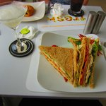Club Sandwich & Frozen Marguerita