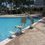 ada compliant lifts in all the pools and hot tubs