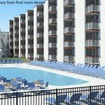 Hotel Pool Rendering