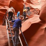 Exiting Lower Antelope Canyon