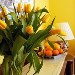  Tulips and Oranges in the dining room