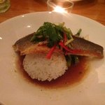 Sea bass at Limes Bistro