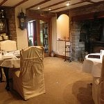 Dining Room with log fire
