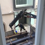 Heavy crane outside my room at 7am