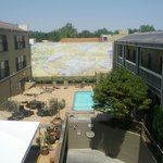 Overlooking the courtyard from our 3rd floor room.