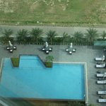 View of the Pool / Patio Area from our 14th Floor Room