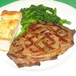 Grilled Rib eye Steak with Broccoli Rabe