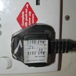 Out of date electrical safety tag