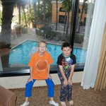Our boys loved the pool view!