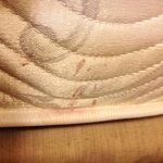  Blood-stained mattress