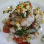 Ling Cod with Pineapple Salsa
