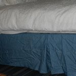  This is how the bed looked after requesting a change of linen