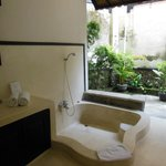 Huge outdoor bathroom, private, high walls