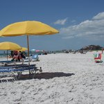  You can rent beach umbrellas and chairs right by the ocean