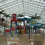  The view as you enter the water park