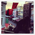  Sunsets on our first day in Istanbul. View from room.
