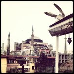  View of Hagia Sophia from Hotel&#39;s top floor Terrace