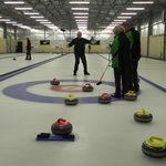 The newly formed 'Dubbo Curling Team' at the Naseby Curling Centre.  Fantastic fun for all ages