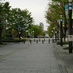 The beautiful walking path from hotel to JR station