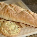 Fresh-baked bread and chewy chocolate chip cookies