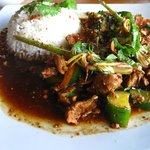 sauted pork with lemon grass