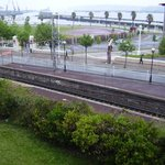  railway track ,view from room