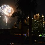 Saturday night fireworks as seen from Coral Tower room