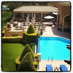  The pool and terrace at the back of the Golf Hotel